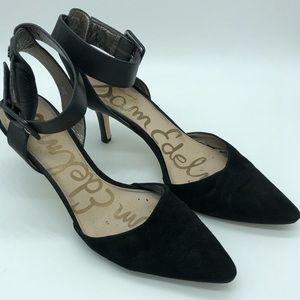 Sam Edelman Okala Black Ankle Strap Heels